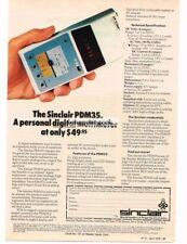 1978 Sinclair PDM35 Personal Digital Multimeter Vtg Print Ad
