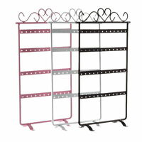 48 Holes Stand Organizer Holder Metal Earrings Display Show Jewelry Rack Lot A!