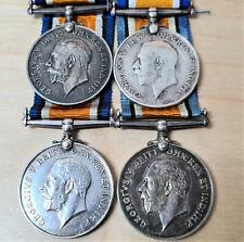 4 X WW1 BRITISH WAR MEDALS ARMY MOSTLY INFANTRY UNITS BWM VINTAGE
