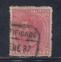 ESPAÑA (1879) USADO SPAIN - EDIFIL 207 (1 pts) ALFONSO XII - LOTE 3