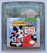 Mickey's Speedway USA Nintendo Game Boy Color Not For Resale *Rare NFR Game*