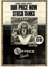 27/3/1982Pg7 Our Price Records Album Advert 15x10 Tank, Filth Hounds Of Hades