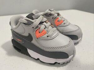 Nike Air Max 90 LTR TD Platinum Cool Grey Pink Toddler Size 5c Running Walking