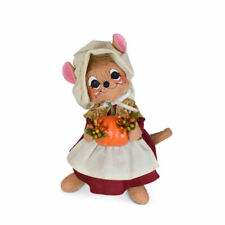 Annalee Dolls 2021 Thanksgiving 6in Pilgrim Pumpkin Mouse Plush New with Tag