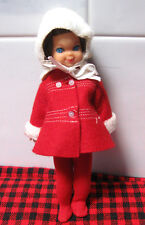 Vintage 1966 Tutti Doll~*Me&My Dog Set*~Sidepart Tutti +Orig.Bow~Coat-Tights+Hat