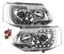 LED TAGFAHRLICHT SCHEINWERFER VW T5 BUS 09-15 FACELIFT CHROM ORIGINAL-OPTIK S