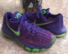 """Nike KD 8 (GS) """"Suit"""" Youth Purple/Green Basketball Shoes Size 6Y 768867-535 EUC"""