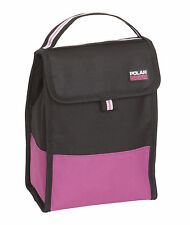 Engranaje polar plegable bolsa de almuerzo fresco aislado Portacomidas Rosa Negro Trabajo Escolar