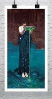Circe Invidiosa 1892 John William Waterhouse Canvas Giclee Print 17x32 in.