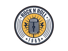 1 x Aufkleber Rock N Roll 1969 Sticker Autoaufkleber Musik Music Tuning DJ Band