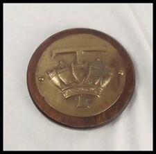 HMS Topaze 1903 Bronze Boat Badge