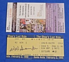WILLIE SHOEMAKER SIGNED ORIGINAL BET TICKET OF LAST RACE @ SANTA ANITA JSA Cert