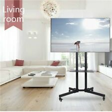"""TV Cart for LCD LED Plasma Flat Panels Stand with Wheels Mobile fits 32"""" to 65"""""""