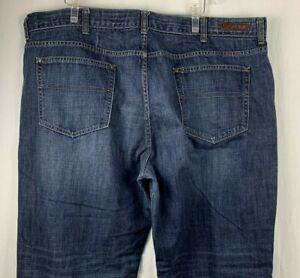 Claiborne Mens Jeans 48 Relaxed Whiskered 5 Pocket Med Wash