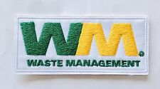 "WM Waste Management Embroidered Patch Trash 1.5""x3"" Iron On Truck Uniform NEW!"