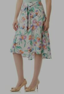 """Review Skirt """"Paradise Floral"""" skirt Size 12 BNWOT rrp $159"""
