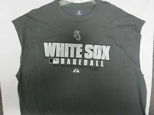 CHICAGO WHITE SOX MAJESTIC ATHLETIC SLEEVELESS SHIRT NEW MENS LG XL