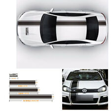 Popular Racing Car Body Side Hoods Roof Tail Vinyl Stripe Decal Graphics Sticker