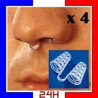 4x Anti Ronflement Appareil Dispositif Respiratoire Aide A Dormir Soulager Nez