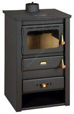 Wood Burning Stove Fireplace Cast Iron Top 10 kW Multi Fuiel Log Burner Prity 22