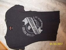 NWOT HARLEY DAVIDSON MOTORCYCLE Women's XL GENUINE VINTAGE GRAY LIGHT TOP SHIRT
