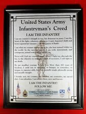 Mc-Nice: Army Infantryman's Creed All Units Framed Personalized
