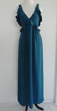 French Connection Maxi Dress Sleeveless Ruffle Empire Waist 100% Silk Size 0