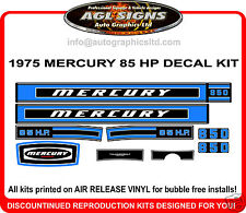 1975  MERCURY 85 HP , 850  OUTBOARD DECAL KIT , reproduction sticker