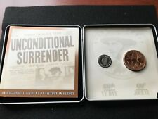 **1945 - 2005**Canada, 60th Anniv. WWII VE Day, ¢5 Coin & Bronze Medallion
