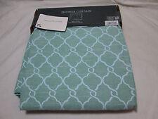 "New  Threshold Quality & Design BLUE/GREEN GEO Fabric Shower Curtain 72""x72"" NIP"