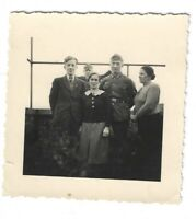 Foto, Soldat in Uniform, Mütze,  Familie