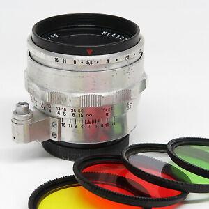 Jena B 1:2 58mm (Carl Zeiss Biotar) for Exakta - Good vintage condition