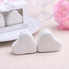 Love Heart Salt and Pepper Shakers A Dash of Love Wedding Favor