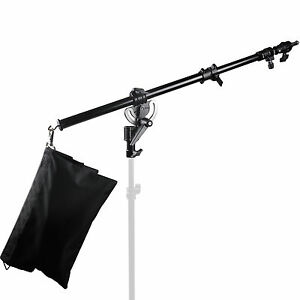 Metal Heavy Duty Photography Studio Boom Arm with Grip Head Clamp And Sandbag