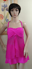 SWEET ESCAPE pink halter/Bandeaukini mesh Swim tankini Top 16 &skorted bottom,14