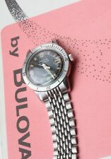 Vintage dive watch Beads of Rice 18mm band compatible with Bulova 666 Snorkel
