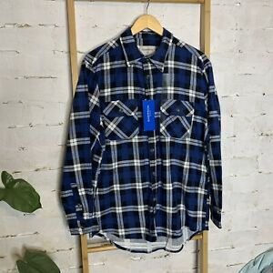 NEW Emerson Men's Size M Blue Flannel Shirt Long Sleeve Cotton Flanno NWT