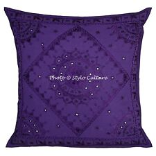 "24"" Large Indian Mirror Cushion Cover Bedding Sofa Pillow Case Throw Cushions"