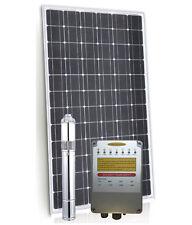 Submersible Solar Bore Pump- 1800l/hr 80m max head, Solar Panels,100% SSteel 316
