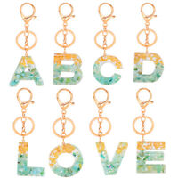 Keychain Alphabet Initials Letter A-Z Acrylic Keyring Bag Pendant Accessories