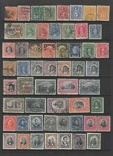Chile early collection, 101 stamps + 3 early Postal Stationary cards