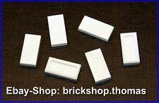 Lego 6 x Fliesen Kachel weiß (1 x 2) - 3069b - Tile White - NEU / NEW