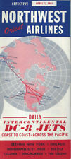 Northwest Orient Airlines system timetable 4/1/61 [0098]