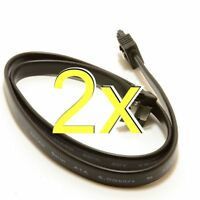 [2 pack] 50cm SATA 3 Locking Plug to Right Angle Plug 6Gb High Speed Cable Lead
