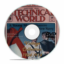 Technical World Magazine, 119 Classic issues, 1904-1915, Old Time Read DVD, V18
