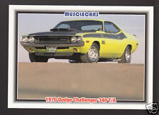 1970 DODGE CHALLENGER 340 T/A V8 Muscle Car Photo 1992 SPEC TRADING CARD