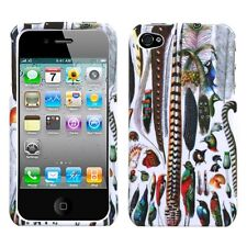 For Apple iPhone 4 4S HARD Protector Case Snap On Phone Cover, Birds Feather
