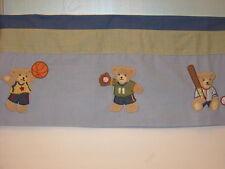 "Kidsline Go Team Valance Appliques Sports Bears Blue Green 58"""