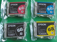 GENUINE epson Printer Ink Cartridges set 68 T0681 T0685 High Capacity CMYK TO681