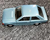 Corgi Blue Die-Cast Ford Escort 1.3 GL 2 Door Car Vintage!